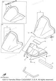 Yamaha snowmobile 1999 oem parts diagram for windshield partzilla