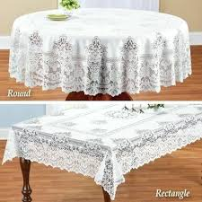 white lace round tablecloth elegant table overlay white lace round tablecloth