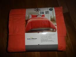 threshold vintage washed linen king duvet cover set c orange for
