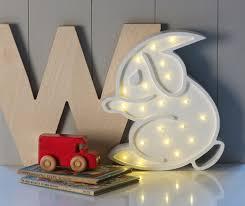 white rabbit owl childrens lamp design ideas