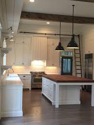 Kitchen Island Farmhouse Beams Pendants Shiplap Island Lights Above The Sink Eating