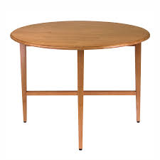 winsome wood hannah light oak composite round extending dining table