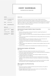 resume templates administrative assistant resume templates 2019 free