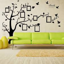 x large room photo frame decoration family tree wall decal sticker poster on a wall sticker tree wallpaper kids photoframe art right facing letter wall