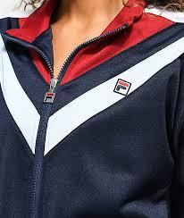 fila navy blue jacket. fila faith navy \u0026 burgundy track jacket fila blue