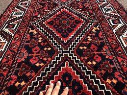 details about 3x10 blue persian runner rug antique caucasian hand knotted red heriz serapi