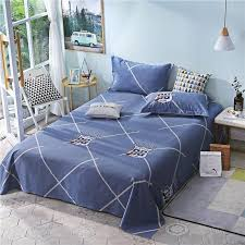 bedding set dark blue pirate pattern 100 cotton flat sheets king size bed sheets 250x270cm size bed lines bedspread cover modern duvet cover queen duvet