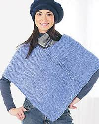 Poncho Patterns Fascinating Easy Kids' Knit Poncho FaveCrafts