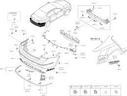 2013 kia cadenza rear bumper diagram 8686611
