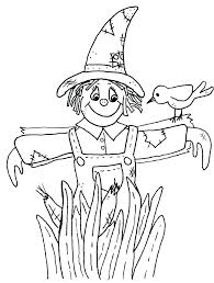 free printable scarecrow coloring pages pictures to color sheet page scarec