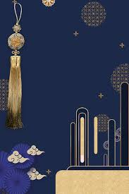 New <b>Chinese Style Golden Chinese</b> Knot Texture Fan, <b>Retro</b>, Blue ...