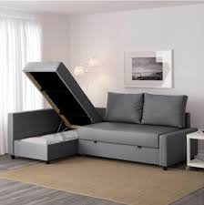 ikea corner sofa bed with storage friheten skiftebo dark grey