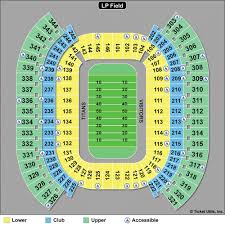 Titans Stadium Seating Chart Map Of Tennessee Football Seating Map Free Download