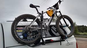 pickup truck side mount topper friendly bike rack holdup fatbike