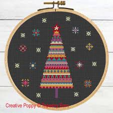 Christmas Tree Cross Stitch Chart Merry Bright Christmas Tree Cross Stitch Pattern By Tapestry Barn