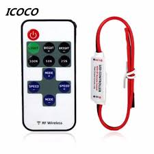 2017 mini wireless switch controller dimmer 12v rf led strip light with remote control in