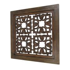 carved wooden wall panel hanging squares nautical decor hand wood panels large antique chinese carved