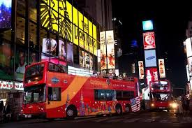 new york double decker bus night tour