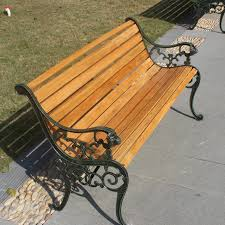 wood and wrought iron furniture. Leisure Park Bench Outdoor Wood Preservative Double Benches And Chairs  Wooden Wrought Iron Furniture-in Patio Benches From Furniture On Aliexpress.com Furniture \