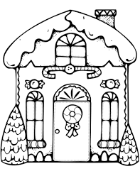 Small Picture Xmas Gingerbread House coloring page Free Printable Coloring Pages