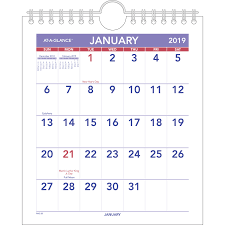 At A Glance 3 Month Calendar At A Glance Mini Wall Desk Monthly Calendar Aag Pm528