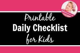 Daily Checklist Chore Chart For Kids Now With A Printable Version