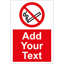 No Smoking Signage Custom No Smoking Signs From Key Signs Uk