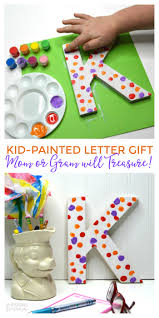 a super cute and easy kid painted letter craft the perfect kid made handmade gift