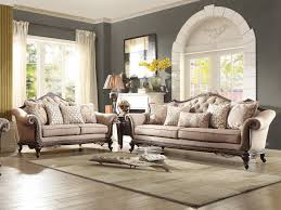 renata living room wood trim brown chenille fabric sofa couch loveseat set new