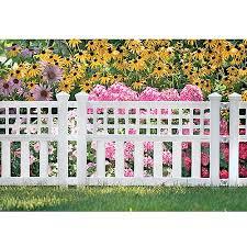 Suncast Grand View Fence 3 Pack White Walmartcom