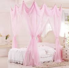 Four Corner Pink Bed Canopy