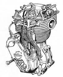 Drawn biker motor 30