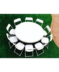 folding party table white round party table with folding chairs package at the park folding party