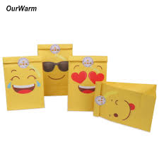details about 60 emoji paper party bags loot fillers treat bag kids birthday candy gift box