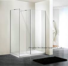 bathroom 6mm glass wetroom shower wall with side panel bn wr100