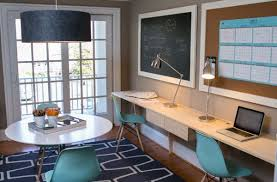 cool home office design. great cool home office design with eames molded plastic cairs in blue add accent color n