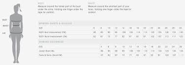 Calvin Klein Pants Size Chart