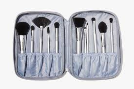 e l f cosmetics only silver 11 piece brush collection