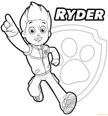 Coloring Pages Paw Patrol Coloring Pages Trackerntablepaw Tracker