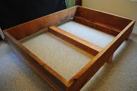 redwood bef diy king bed frame diy bed frame plans bed plans simple