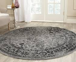wonderful round area rugs com safavieh adirondack collection adr109b grey and black