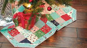 Quilted Christmas Tree Skirt Pattern Magnificent Decoration