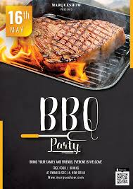 Barbecue Flyers Bbq Party Flyer Social Media Post Freedownloadpsd Com