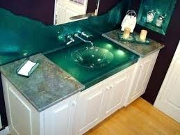 glass vanity top with integrated sink tempered glass vanity top with integrated sink custom glass one