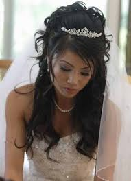 wedding hairstyles down with tiara ptcome com Wedding Hairstyles Up Or Down original in the set above, i have compiled some cute long hairstyles wedding gown dress, 3 elbow length veil, just like its name, it stops around the elbow, wedding hair up or down