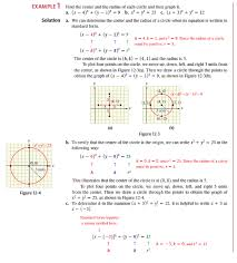 graph each equation and state the center and radius of the circle see example 1 objective 1