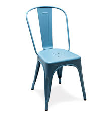 blue tolix chair for durable metal chair idea