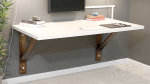 charming white office design. Charming Wall Mount Office Desk For Your Design: White Finish Design F