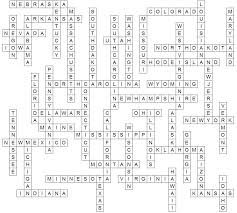 Usa states crossword puzzle answers
