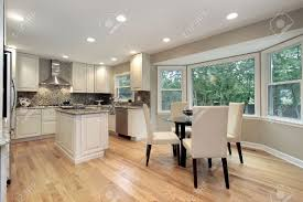 Kitchen Eating Area Kitchen In Suburban Home With Eating Area Stock Photo Picture And